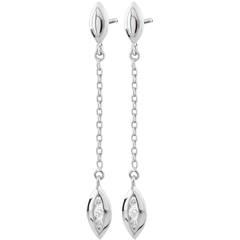 White Gold Calisson Earrings