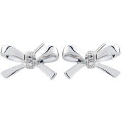 White Gold Carlotta Bow Earrings