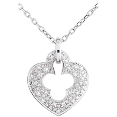 White Gold Diamond Lock Pendant