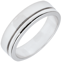 White Gold Diamond Olympia Wedding Band - Large Model