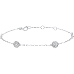 White Gold Myriad of Stars Bracelet