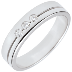 White Gold Olympia Trilogy Wedding Band - Average Model