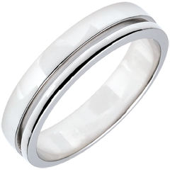 White Gold Olympia Wedding Band - Average Model - 18 carats