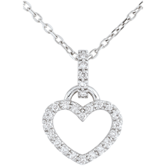 White Gold Onphale Heart Pendant
