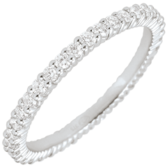 White Gold Radiant Wedding Band - 37 diamonds