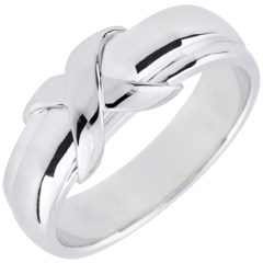 White Gold Sign Ring - 18 carats