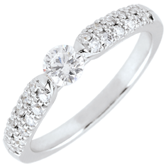 White Gold Triumphal Diamond Solitaire Ring - 0.25 carat