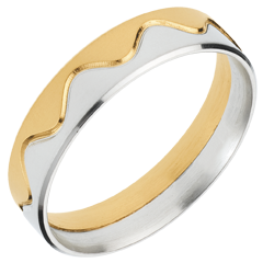 Yellow and White Gold Corona Ring