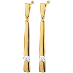 Yellow Gold and Diamond Cleopatra Earrings