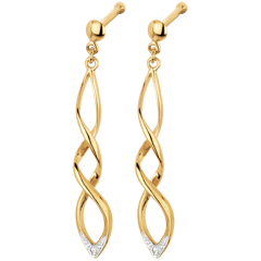 Yellow gold and Diamond Spectacle Earrings