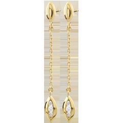 Yellow Gold Calisson Earrings