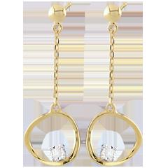 Yellow Gold Cosmo Earrings
