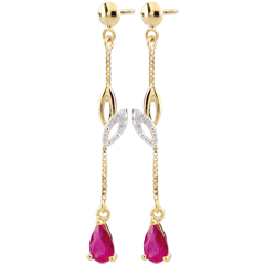 Yellow Gold Evina Sapphire Earrings