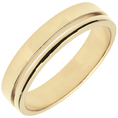 Yellow Gold Olympia Wedding Band - Average Model - 18 carats