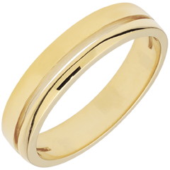 Yellow Gold Olympia Wedding Band - Small Model