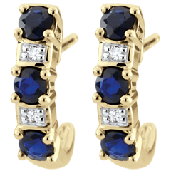Yellow Gold Sapphire Clarisse Creole Earrings