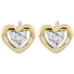 Yellow Gold Small Heart Earrings