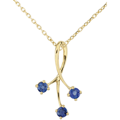 Yellow Gold Sparkles Pendant with Sapphires