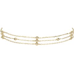 Yellow Gold Thank You Bracelet