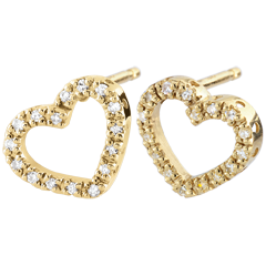 Yellow Gold Zadig Heart Earrings