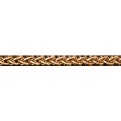 Zopfkette Gelbgold 42 cm