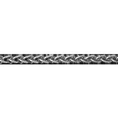 Zopfkette Weißgold - 42 cm - 375