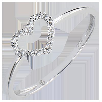 bague diamant en coeur