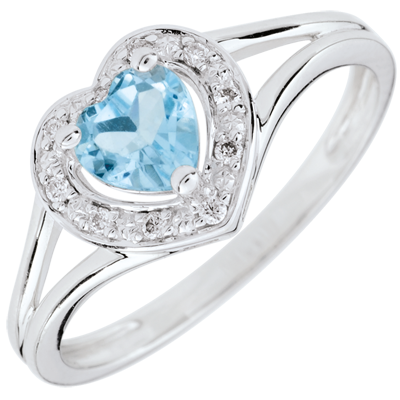 bague or 18 carats topaze