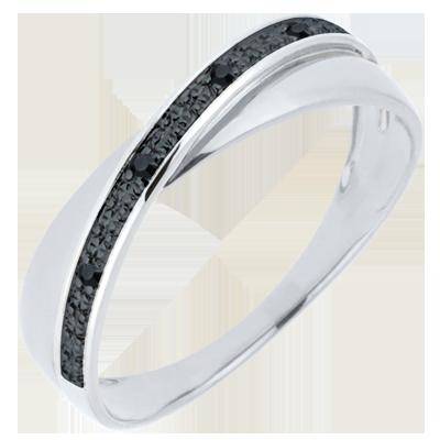 bague diamant noir et blanc femme