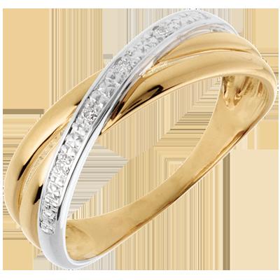 bague diamant or jaune femme