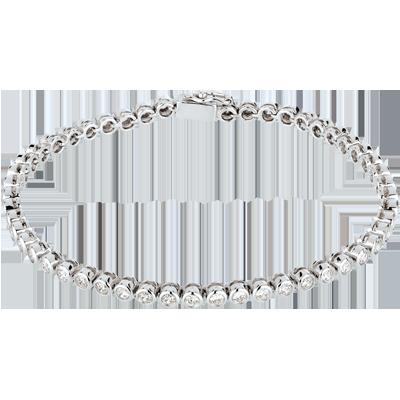 bracelet femme en or blanc