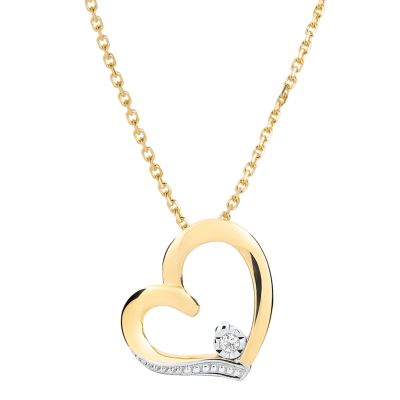 collier femme coeur or