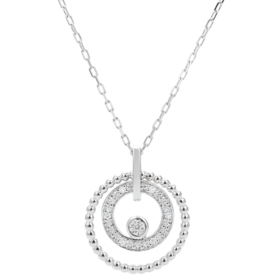 collier or blanc femme