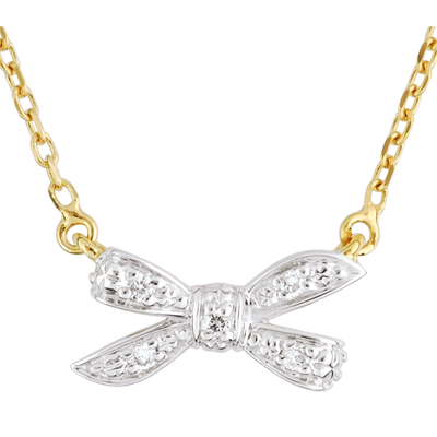 collier or femme noeud