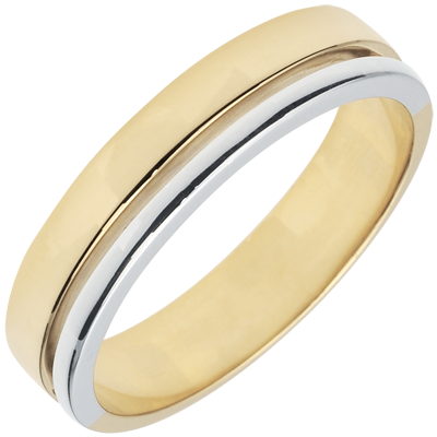 Wedding Rings White And Yellow Gold 9 Carats C2807